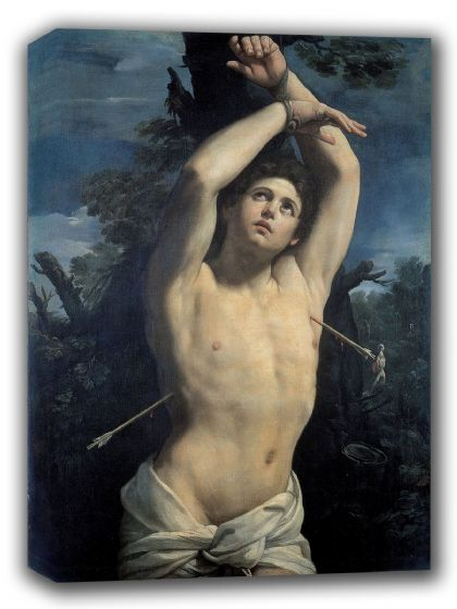 Reni, Guido: Saint Sebastian. Fine Art Canvas. Sizes: A4/A3/A2/A1 (002112)